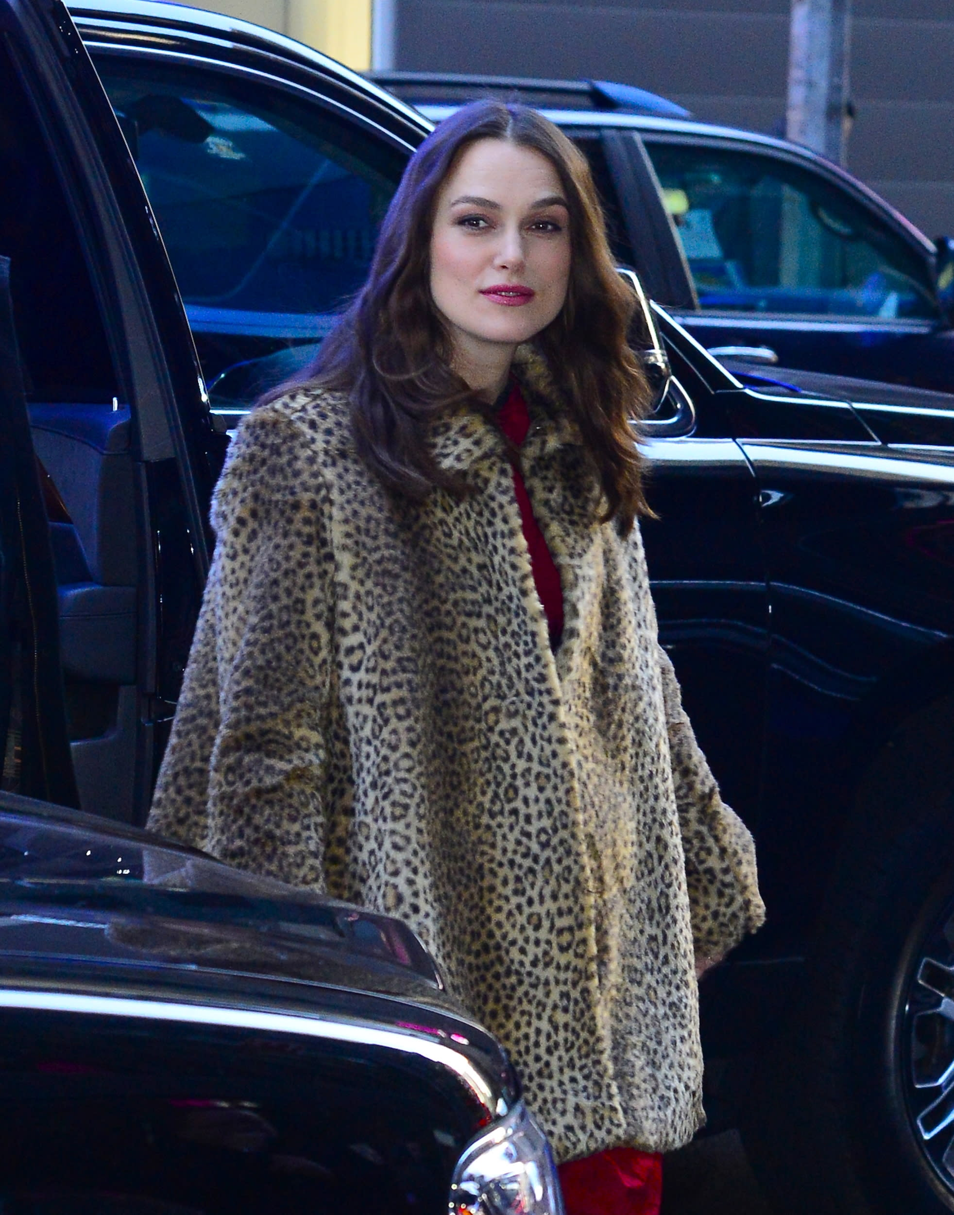 NEW YORK, NY - MARCH 13:  Actress Keira Knightley is seen outside Good Morning America on March 13, 2019 in New York City.  (Photo by Raymond Hall/GC Images)