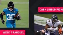 FanDuel Picks Week 4: NFL DFS lineup advice for daily fantasy football cash games