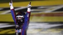 John Hunter Nemechek holds off Kyle Busch for Truck Series win at Las Vegas