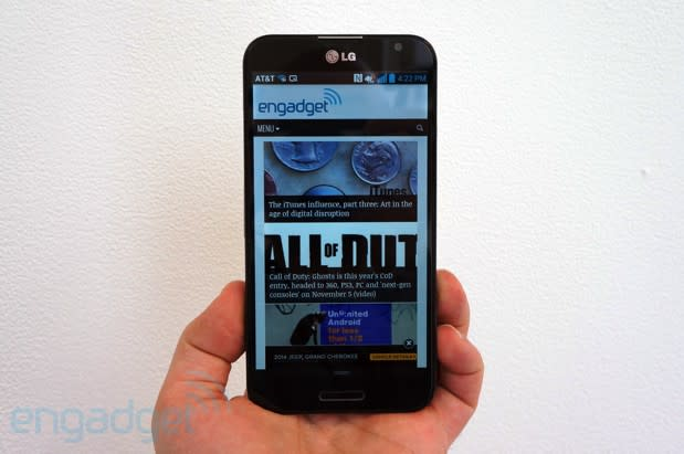 LG Optimus G Pro for AT&T hands-on (video)