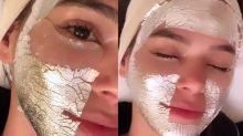 Bruna Marquezine aposta em máscara facial rica feita de prata pura