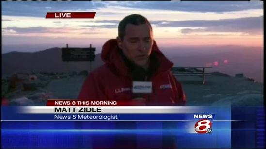 WMTW News 8 welcomes summer from top of Mount Washington