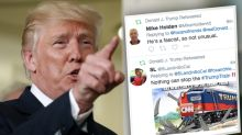 Trump appears to accidentally share Twitter dis