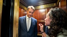 Sexual assault survivors confront Flake in elevator over his support for Kavanaugh