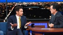 James Franco responds to sexual misconduct allegations on The Late Show with Stephen Colbert