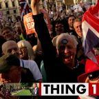 The latest British trend is...throwing milkshakes?