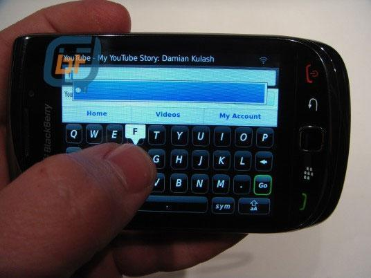 More BlackBerry Bold 9800 pics surface: AT&T and virtual keyboard in, SurePress out?