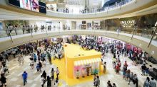 Crowds throng CapitaLand's newly opened Raffles City The Bund in Shanghai