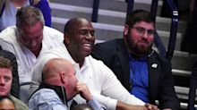 Magic Johnson thinks Anthony Davis will re-sign with Lakers, jokes maybe Luka Doncic will join