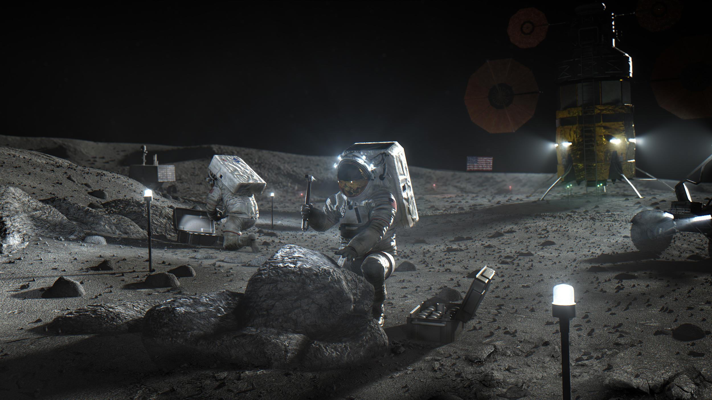NASA still targeting moon's south pole for 2024 crew landing