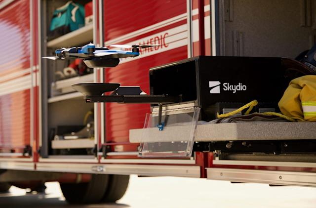 Skydio's station lets self-flying drones work around the clock