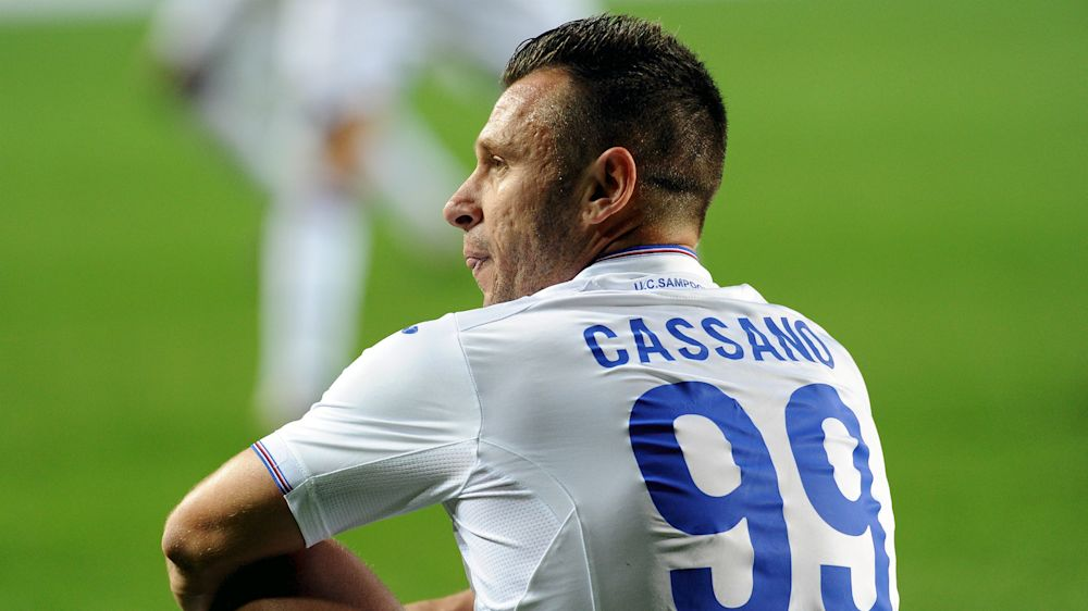 Cassano: I could've been playing on Mars like Messi and Neymar