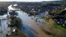 Aerial shots show dramatic flooding in Worcestershire after River Severn bursts its banks