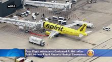 4 Flight Attendants Evaluated At BWI After Spirit Airlines Flight Reports Medical Emergency