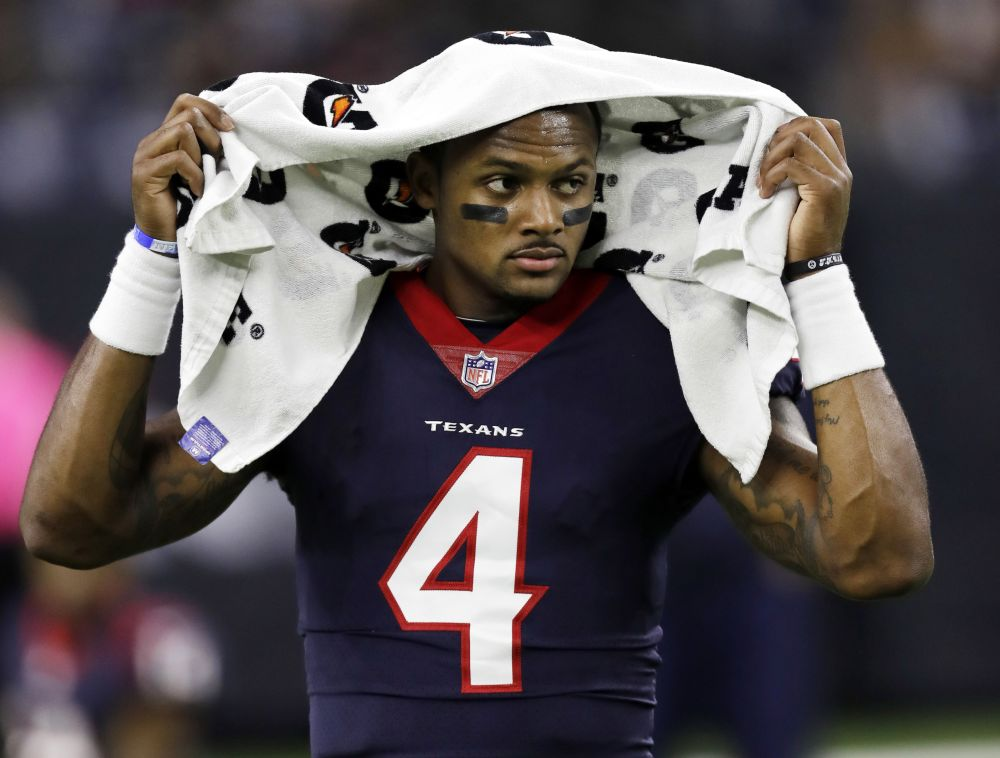 Houston Texans quarterback Deshaun Watson suffered a torn ACL in practice on Thursday. (AP)