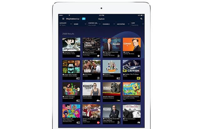 PlayStation's Vue TV streaming app hits iPad in limited release