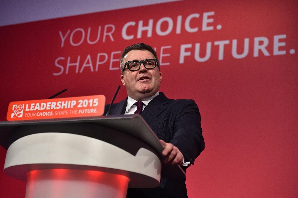 Deputy leader of Britain's opposition Labour party, Tom Watson, speaks following the election results announcement in London on September 12, 2015 (AFP Photo/Ben Stansall)