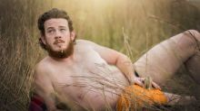 One couple is celebrating fall with this pumpkin-themed 'dudeoir' photoshoot