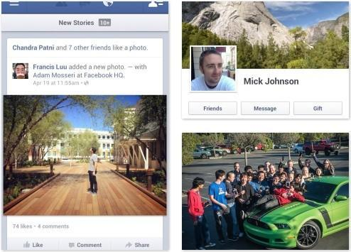 Facebook for Android update touts speedier photo viewing, ability to send voice messages