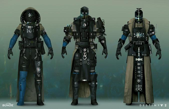 Destiny 2: The Witch Queen armor set concept art