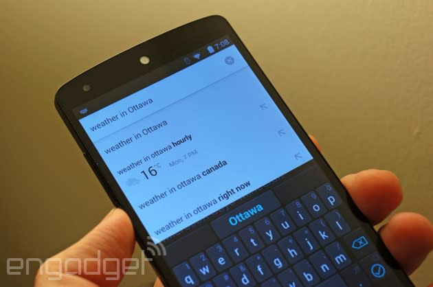 Chrome for Android starts answering your questions in search suggestions