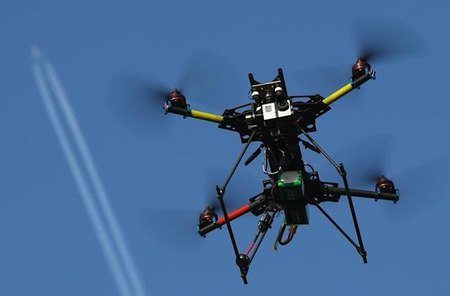 Drone reports by airplane pilots nearly triple over 2014