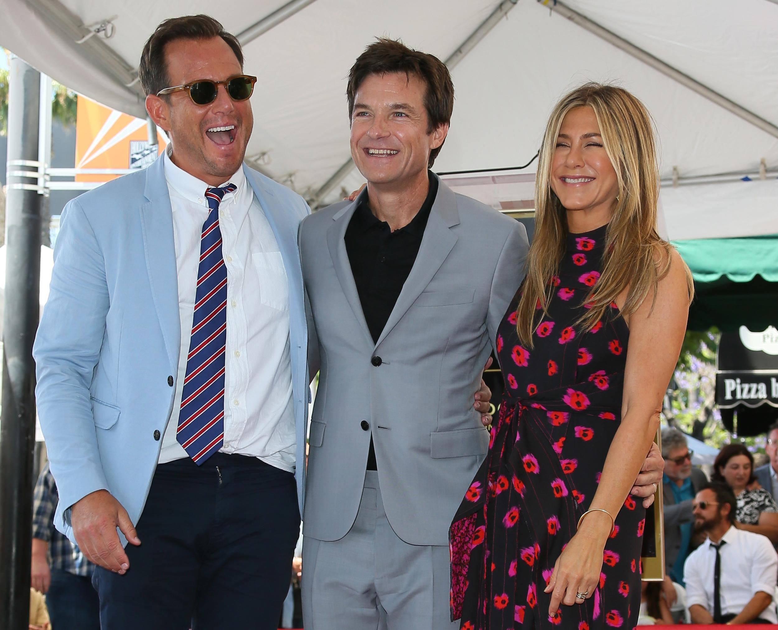 HOLLYWOOD, CA - JULY 26: Will Arnett and Jennifer Aniston attend the ceremony honoring Jason Bateman with Star On The Hollywood Walk Of Fame on July 25, 2017 in Hollywood,  California. (Photo by JB Lacroix/WireImage)