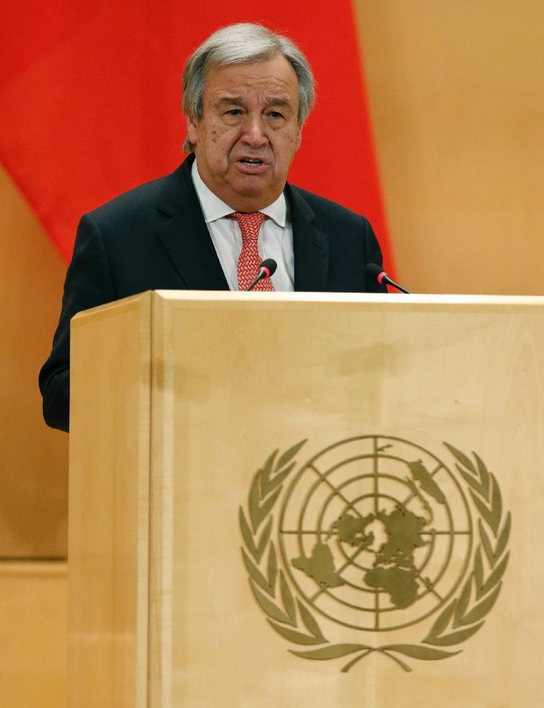 New UN Secretary general Antonio Guterres will address the opening of the African Union assembly (AFP Photo/DENIS BALIBOUSE)