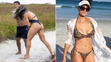 Female MMA fighter attacks man who allegedly exposed himself to her on the beach