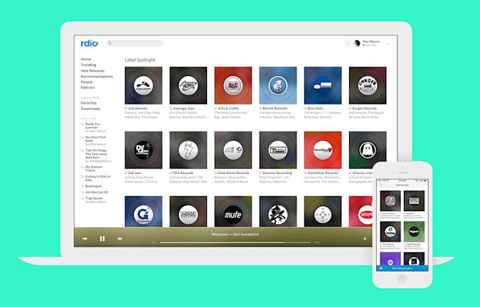 Rdio adds new options to its list of curated stations