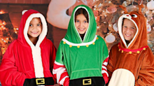 These funny, festive sweatshirt blankets are on sale right now