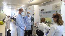 Prince William wears face mask to visit those testing coronavirus vaccine