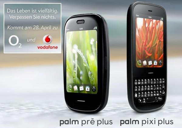 Official: Palm Pre Plus and Pixi Plus hitting Vodafone and O2 Germany on April 28