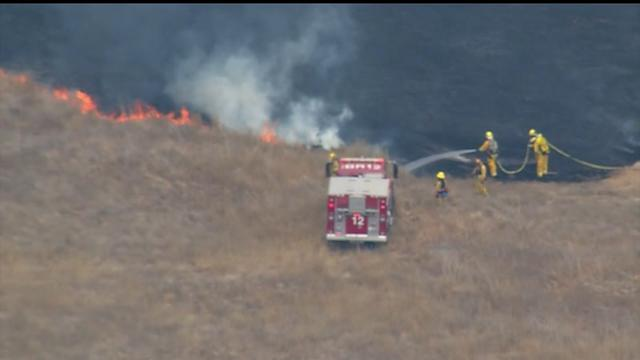 Crews Fight Grass Fire in South Bay