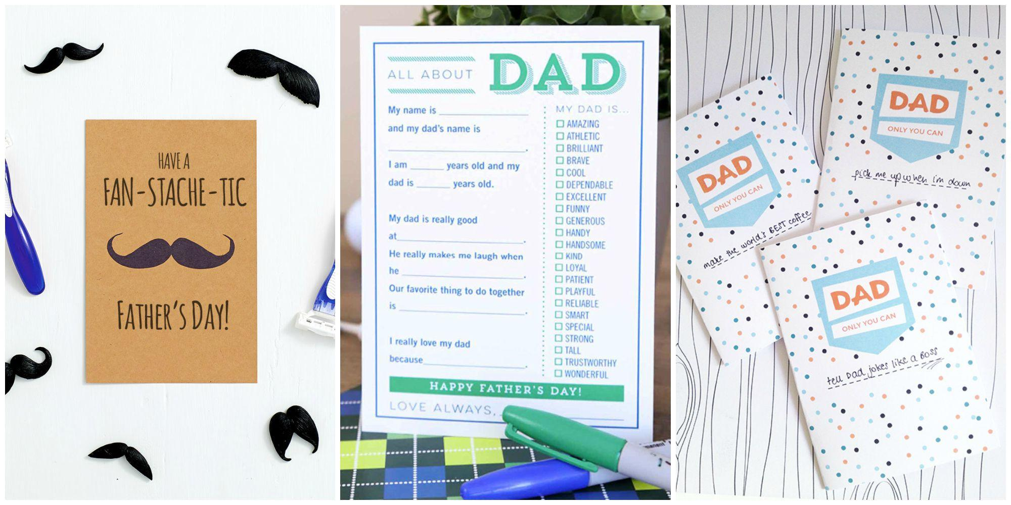 graphic regarding Father Day Card Printable Free identify Print One particular of This sort of Free of charge Fathers Working day Playing cards If On your own Forgot in the direction of