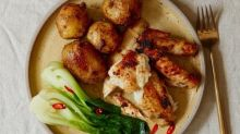 Thomasina Miers' recipe for spatchcock chicken with lemongrass-miso butter
