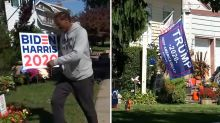 Neighbors with opposing political signs show tolerance, respect is possible