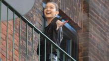 Gigi Hadid all smiles as she returns to work following Zayn Malik split