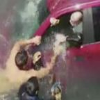 Sinking car rescue in California caught on video