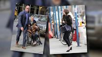 Lady Gaga Switches Between Walking and Rolling