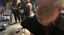 La red estalla al ver a George Lucas acunando a Baby Yoda