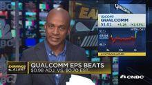 Qualcomm beats on bottom line