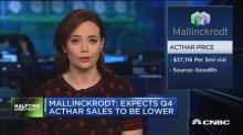 Pharma company Mallinckrodt on pace for worst day ever, s...