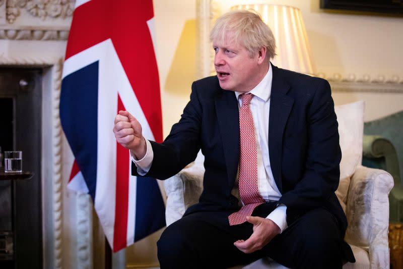 Britain's PM Johnson meets Ukraine's President Zelenskiy in London
