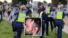 'Unacceptable': Video of anti-lockdown protester's arrest sparks debate