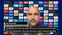 """Ligue des champions - Guardiola : """"Si on pense à la prochaine étape, le roi de la compétition, le Real Madrid va nous mettre dehors"""""""