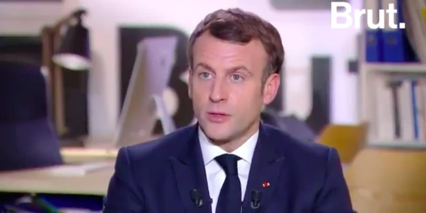Article 24, discriminations, précarité, glyphosate... : ce qu'il faut retenir de l'interview de Macron à Brut