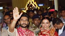 Deepika-Ranveer create a frenzy as they land in Mumbai as a married couple