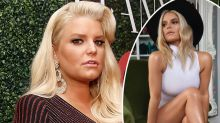 Jessica Simpson shows off 45kg transformation in crop top snap