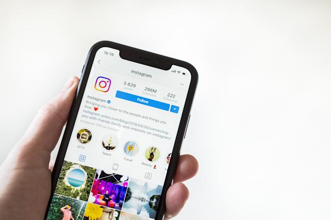 Tyumen, Russia - May 1,2019: Apple iPhone XR showing Instagram application on mobile